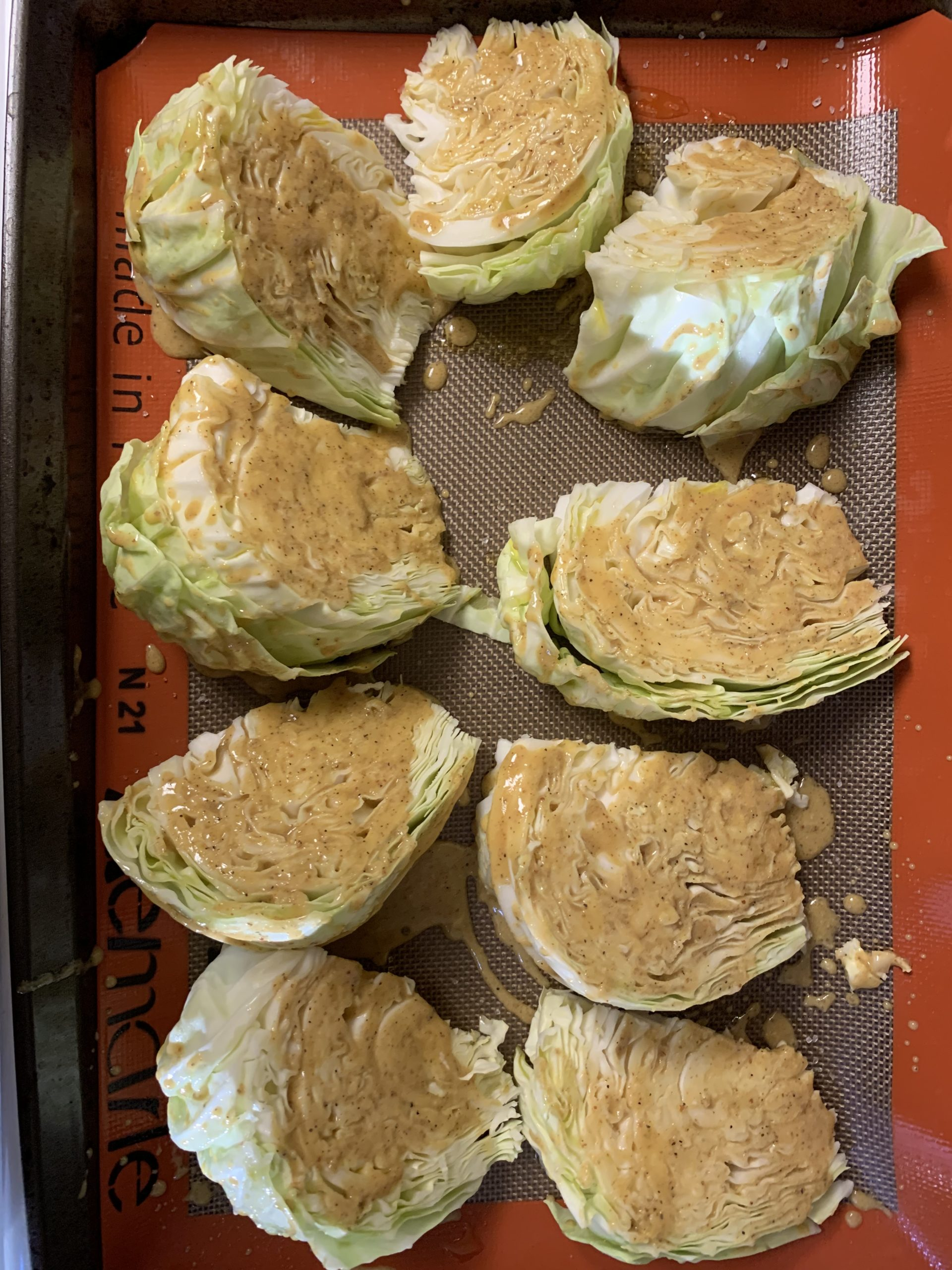 Roasted Cabbage with mustard
