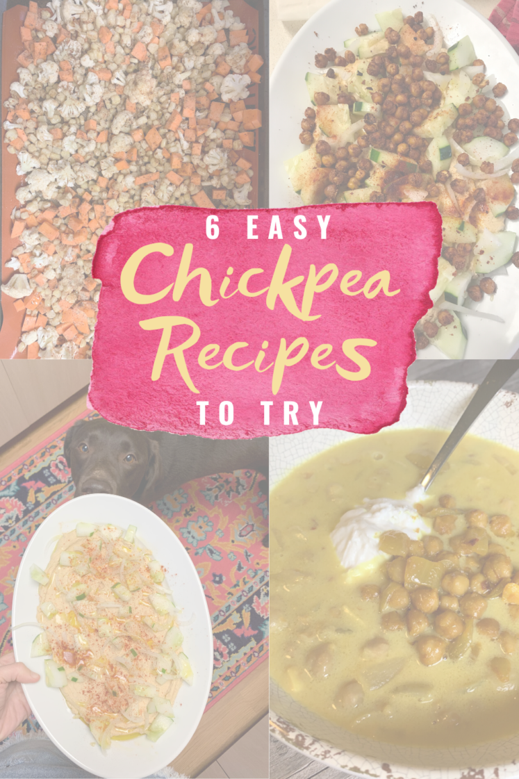 Delicious Recipes That Start With A Can Of Chickpeas - Wondering what chickpea recipes you can make? Here are six delicious recipes to try! | Chickpea Salad Recipe - Chickpea Dishes - Homemade Chickpea Hummus - Can of Chickpeas - Canned Chickpeas