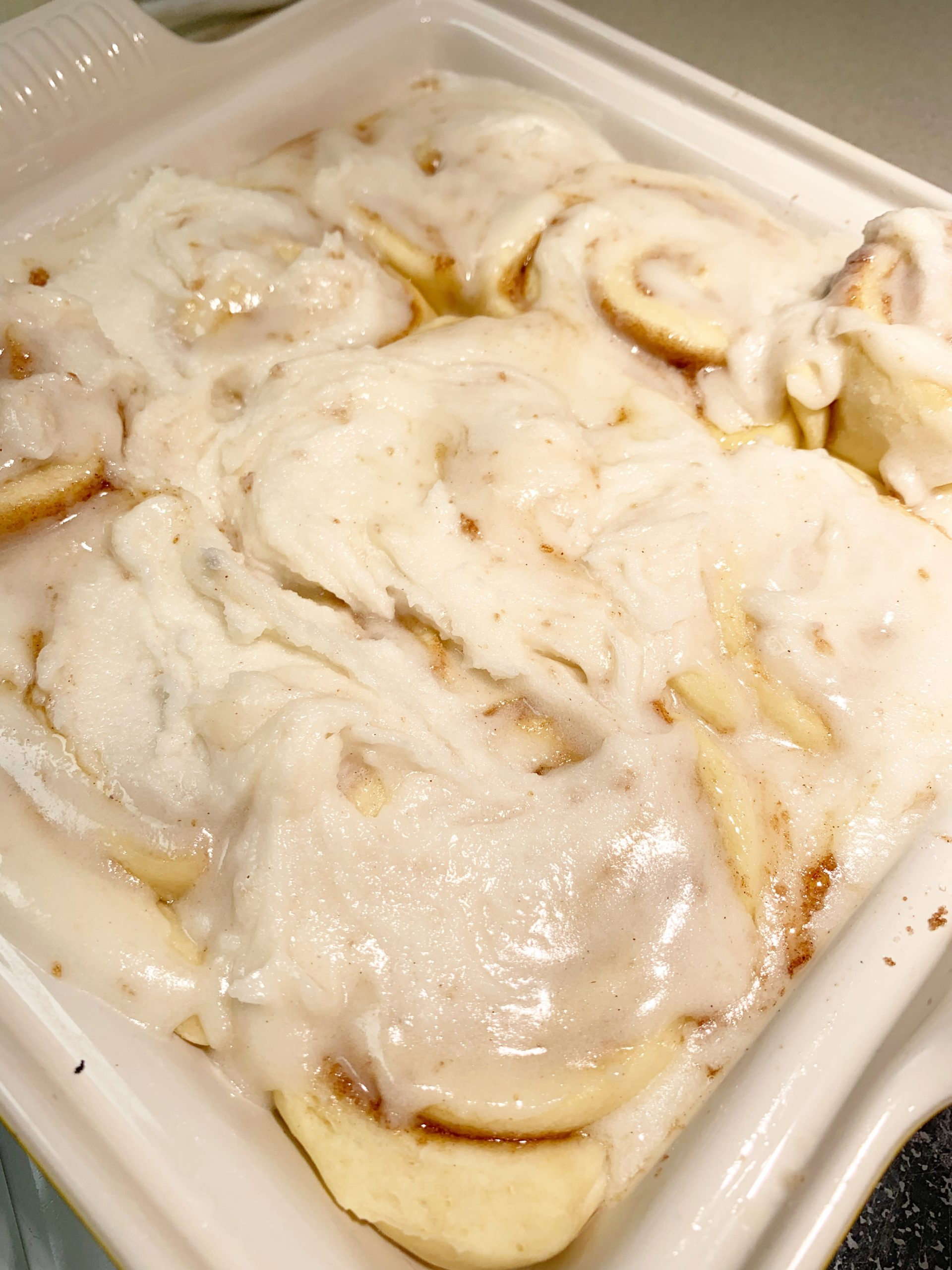 Sourdough Cinnamon Rolls with icing