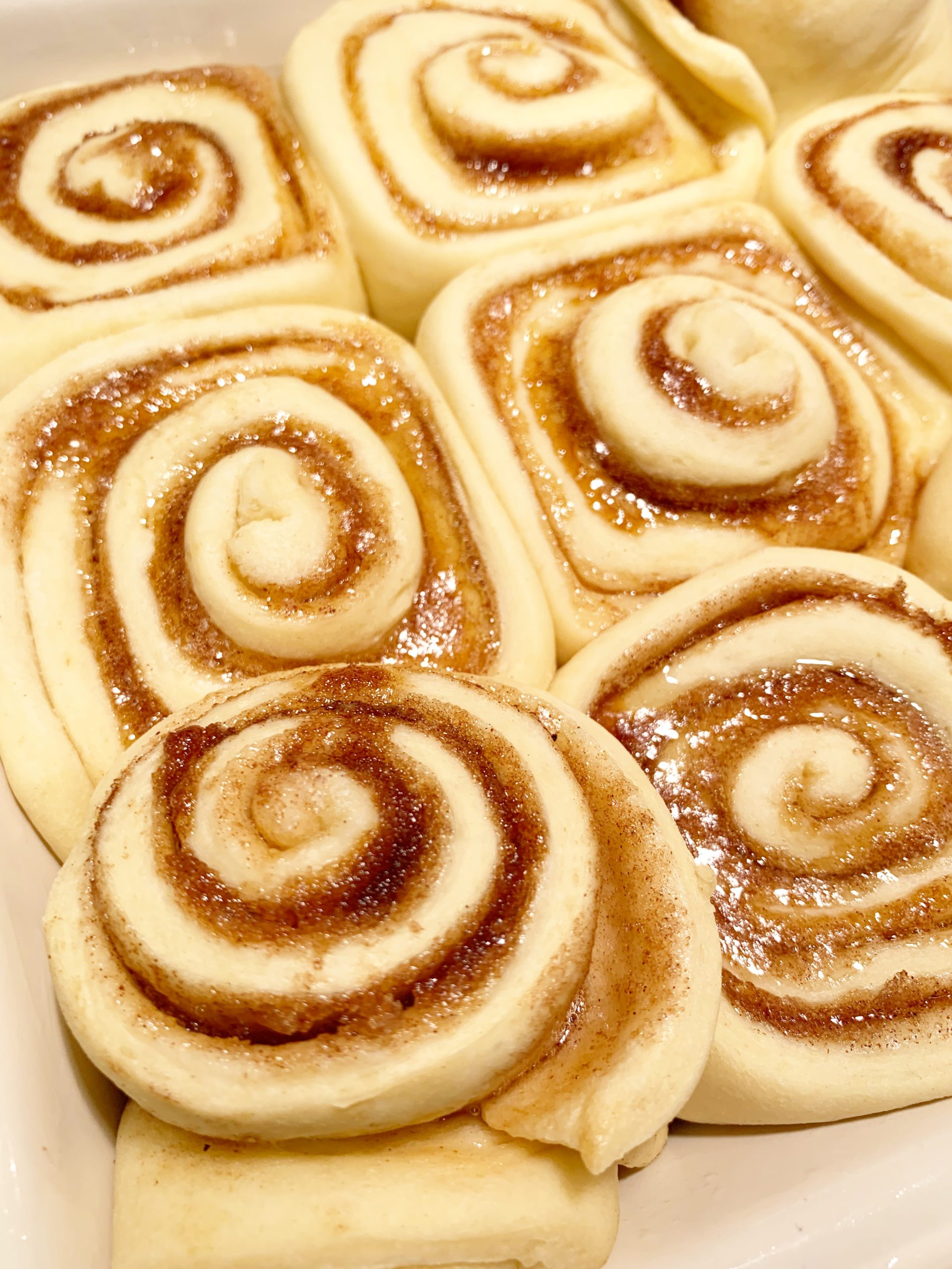 Homemade sourdough cinnamon rolls