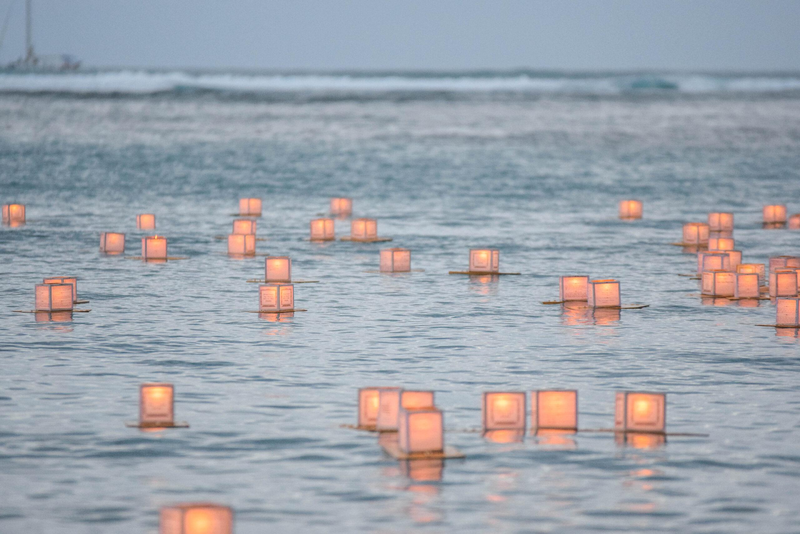Memorial Day Lantern Floating In Hawaii