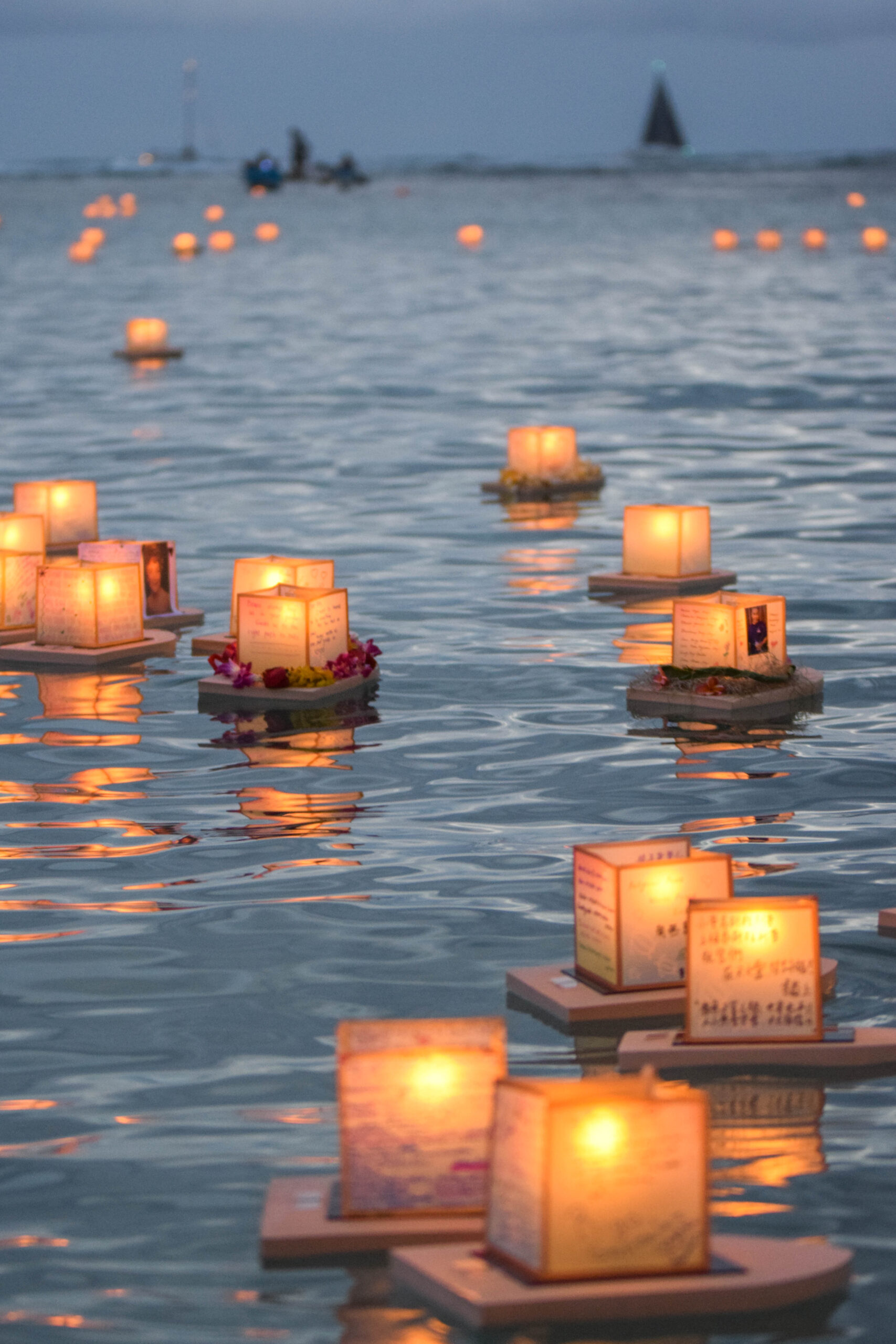 Memorial Day Lantern Floating In Hawaii