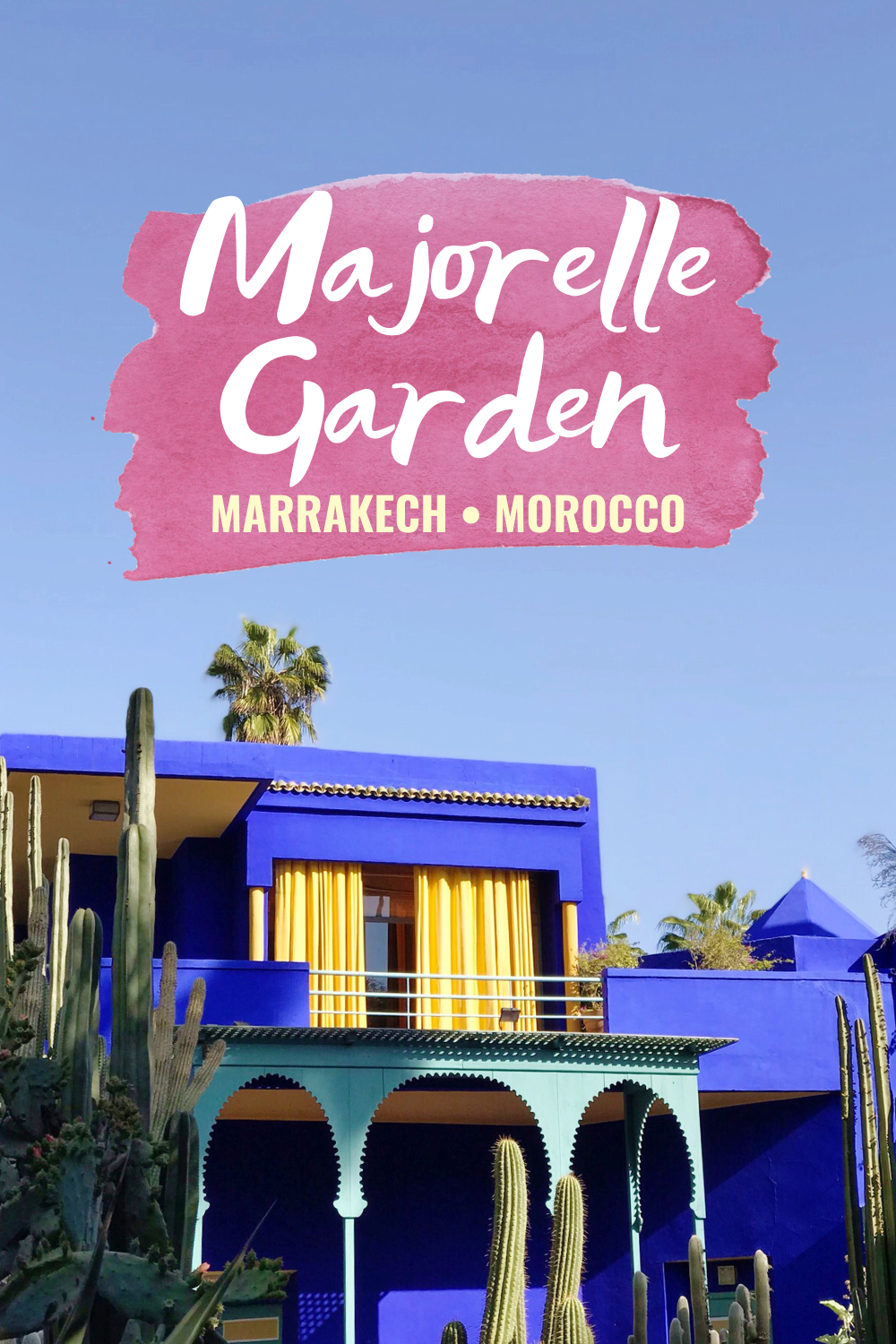 Morocco Travel Photo Diary: Majorelle Garden - Looking for a visual escape to Morocco? I'm sharing all the details on the Majorelle Garden in Marrakech! |Majorelle Garden - Garden In Morocco - YSL Garden Marrakech - Majorelle Gardens Yves Saint Laurent - Morocco Travel