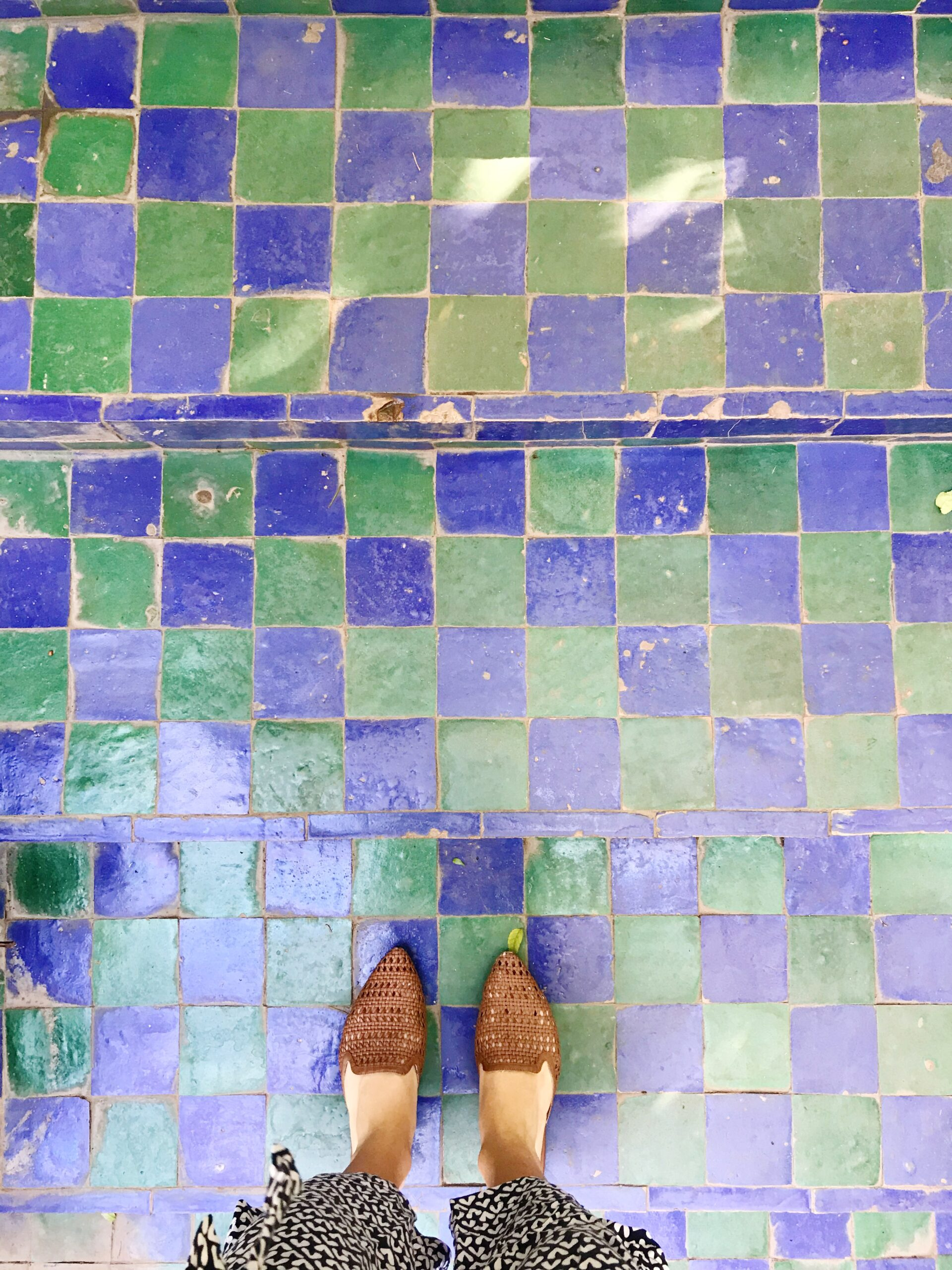 Blue and Green Tile - Majorelle Garden