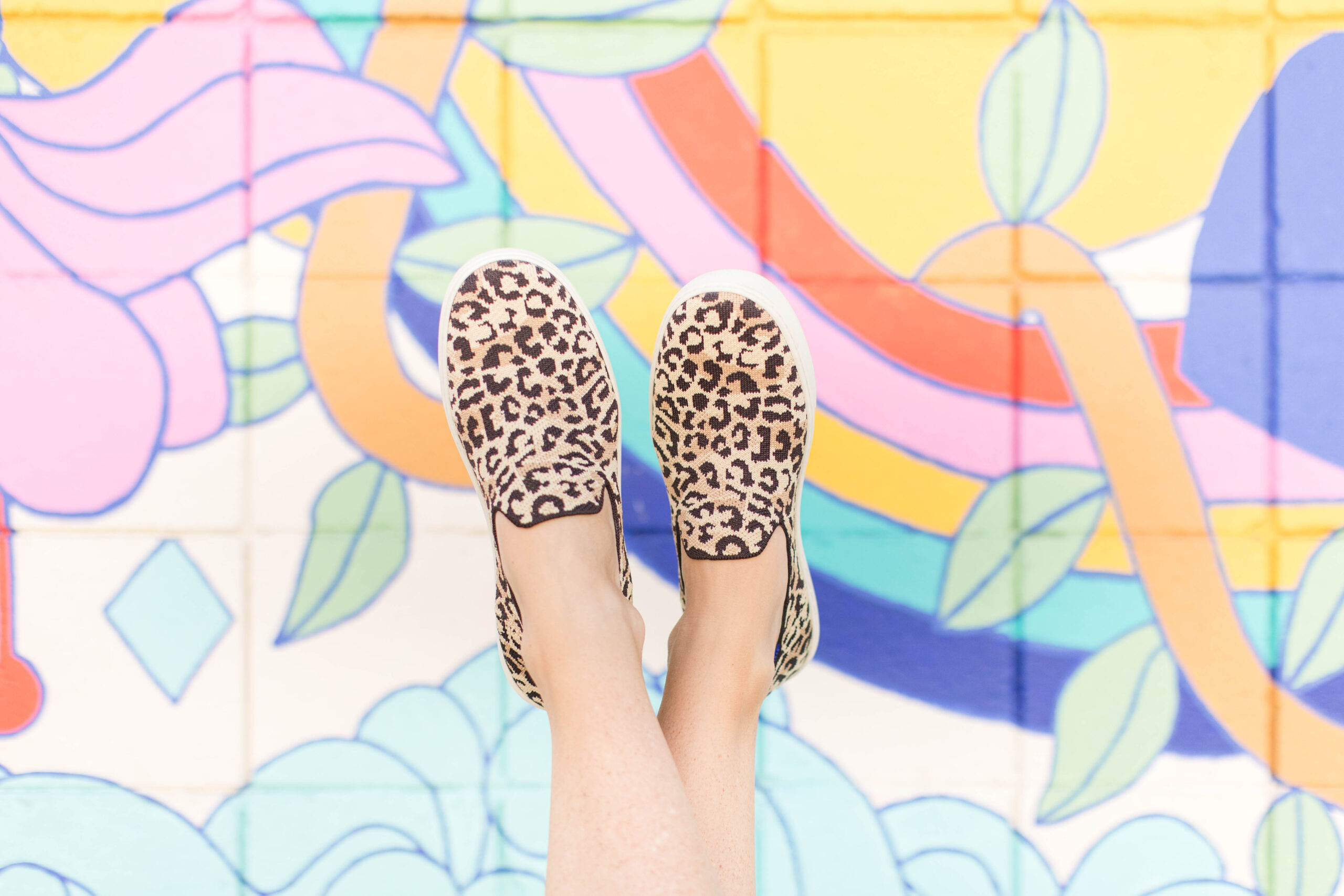 Leopard Rothys Slip-on Sneakers