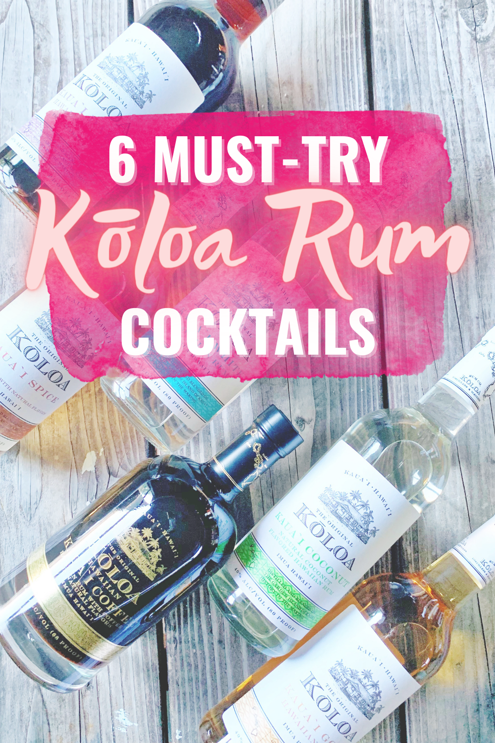 6 Delicious Kōloa Rum Cocktails To Make At Home - Looking for a taste of the islands? I'm sharing 6 delicious Kōloa Rum cocktails you can make at home! | Koloa Rum - Koloa Rum Punch - Kauai Rum