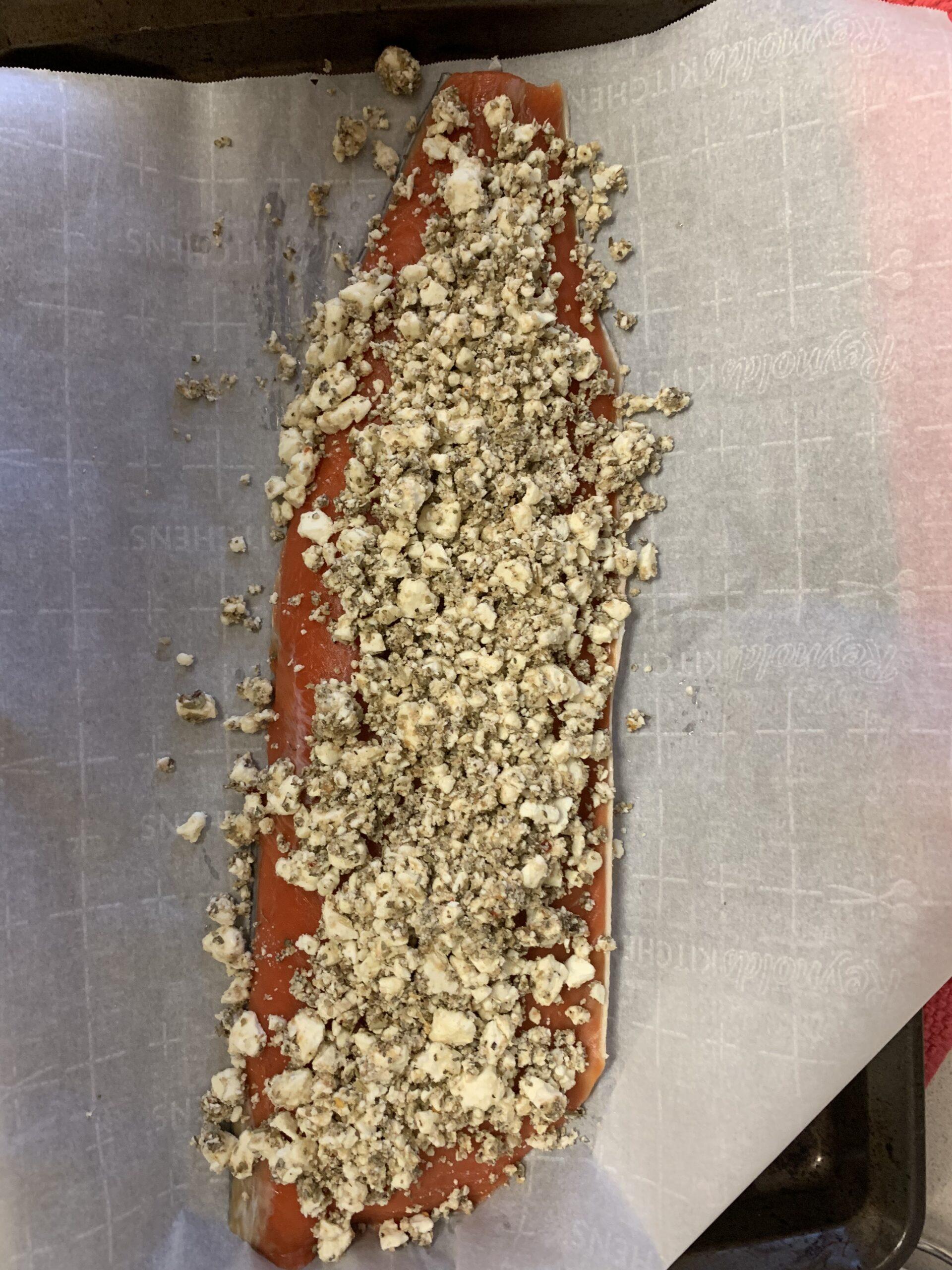 Feta Crusted Salmon