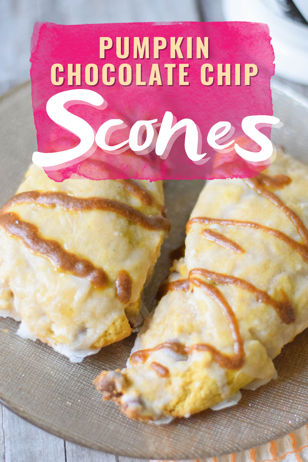 PUMPKIN CHOCOLATE CHIP SCONES - Looking for a delicious and easy pumpkin chocolate chip scones recipe? This recipe from Orchids + Sweet Tea has you covered! | Pumpkin Scone Recipe - Pumpkin Scones