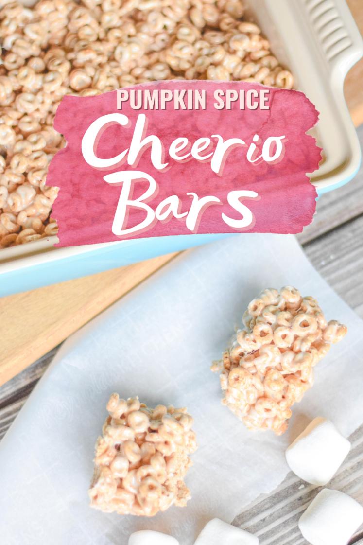 Pumpkin Spice Marshmallow Cheerio Bars