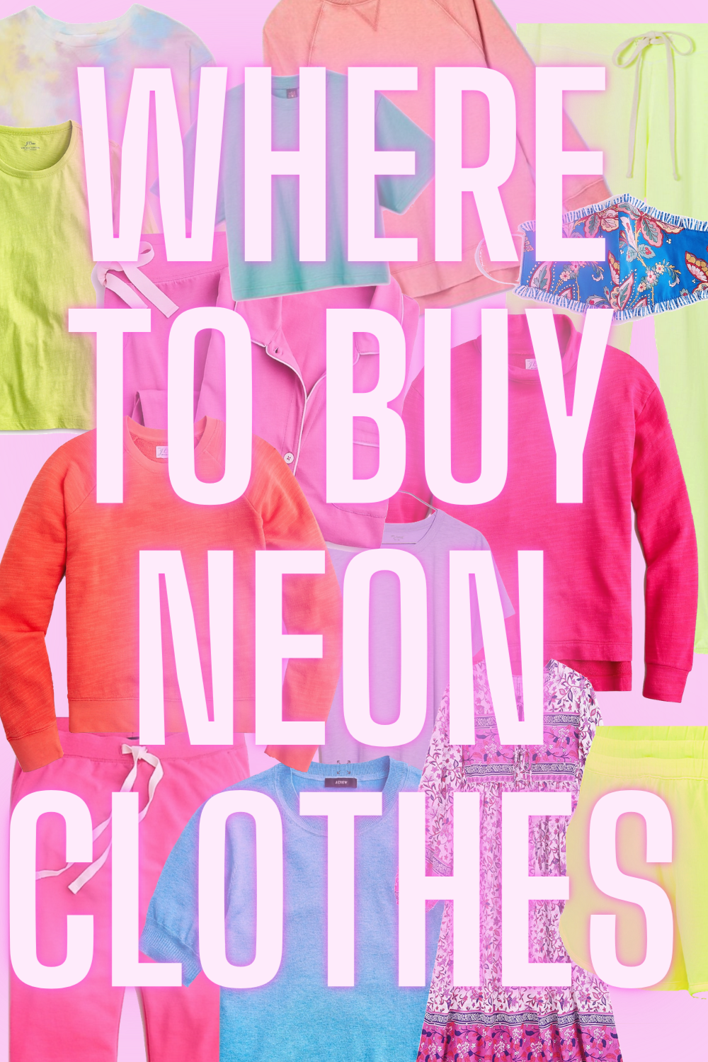 Where To Buy Neon Clothes - On the hunt for neon clothes for women? I've got you covered with all my favorites and best places to shop! | Neon Women's Clothes - Colorful Women's Clothes - Neon Clothes