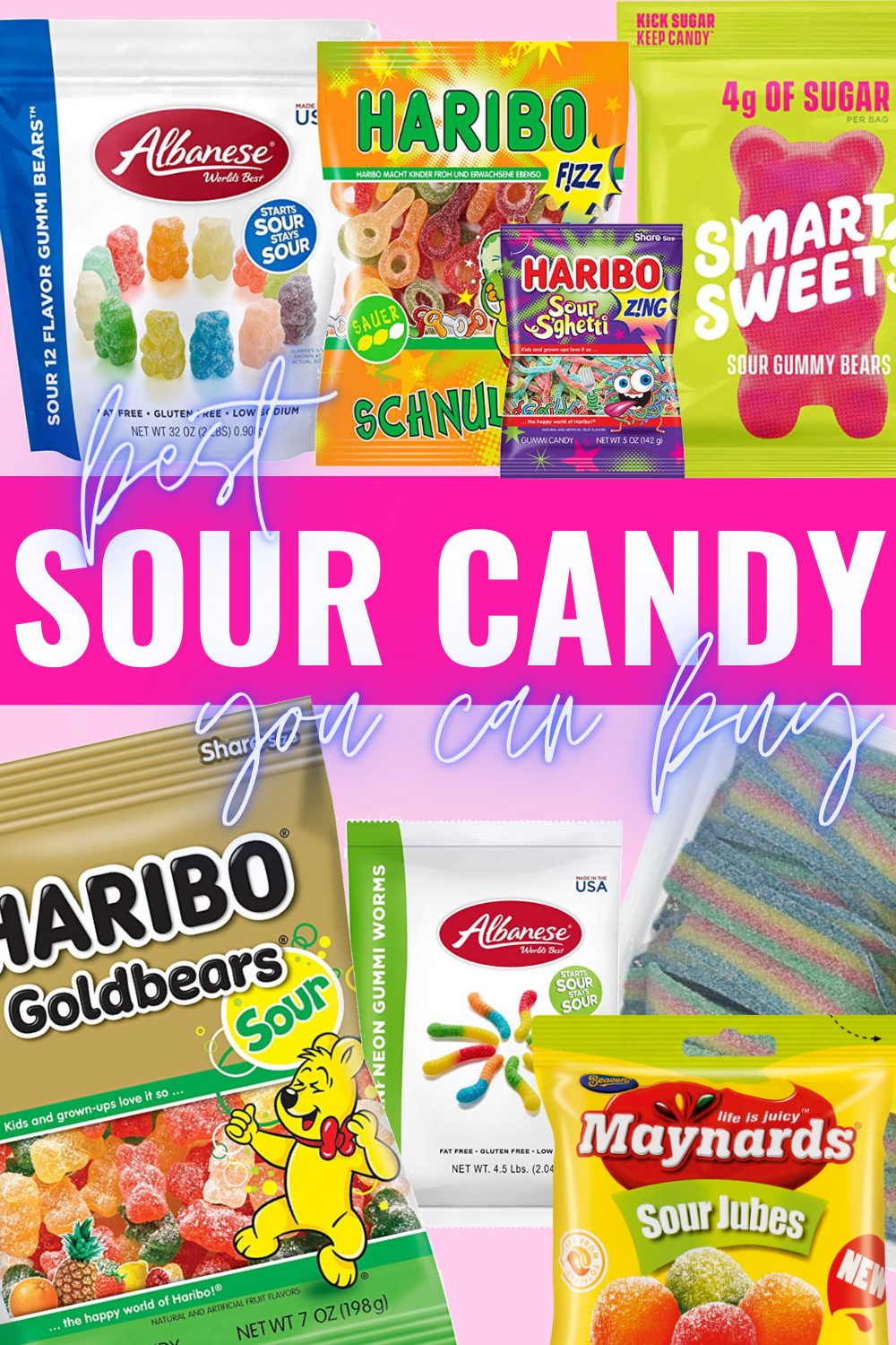 The Best Sour Candy You Can Buy + Where To Find It - Are you a sour candy lover? I've been a candy connoisseur since childhood + I'm sharing where to find the best sour candy! | Bulk Sour Candy - Most Sour Candy -Sour Belts Candy - Sour Candy Strips