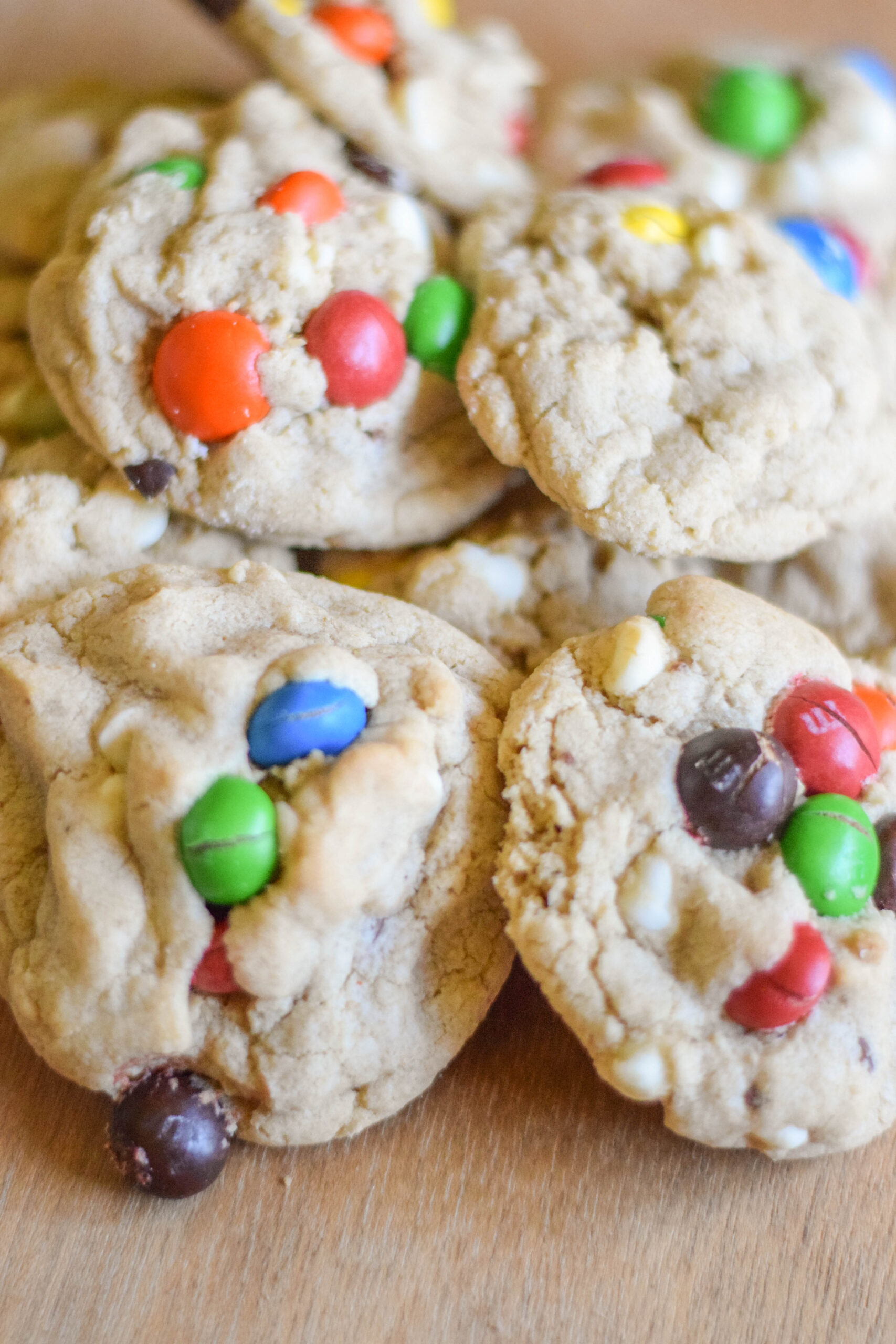 Kitchen Sink Cookies with Peanut Butter M&Ms