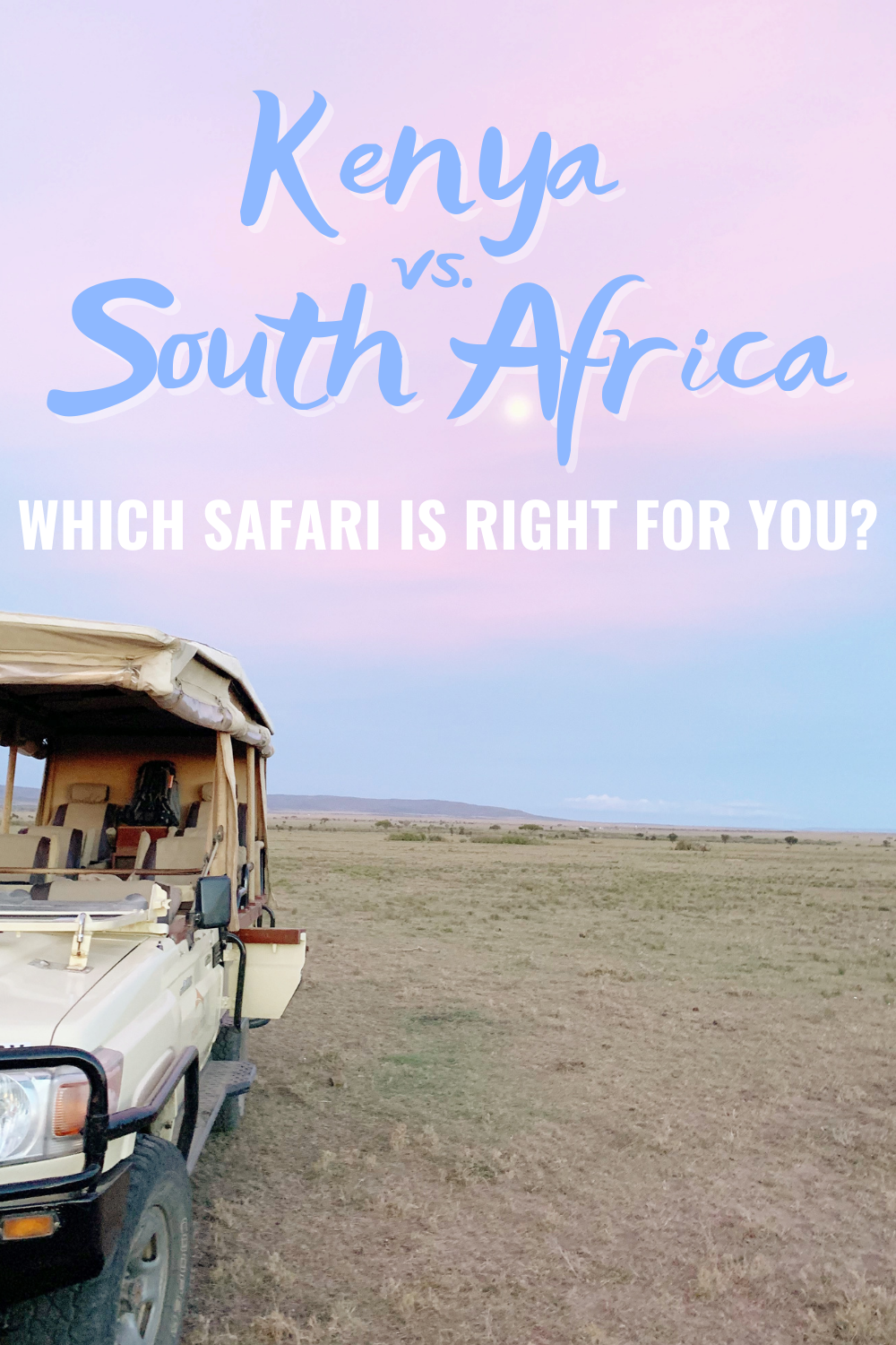 Kenya vs South Africa - Which Safari Is Right For You? | Considering heading out on a safari vacation? I'm sharing details about Kenya vs. South Africa Safari and our opinions on both!