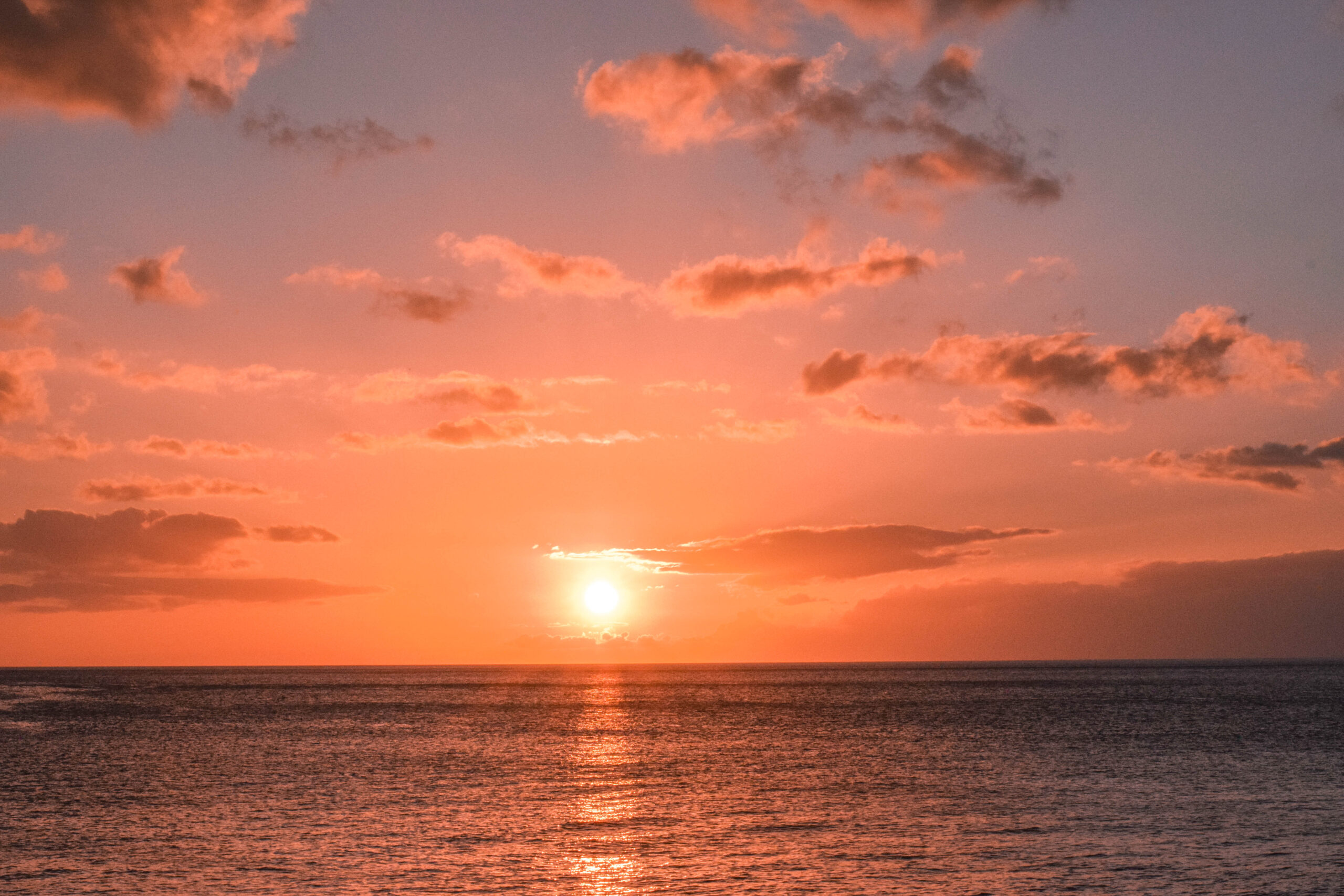 Oahu, Hawaii Sunset