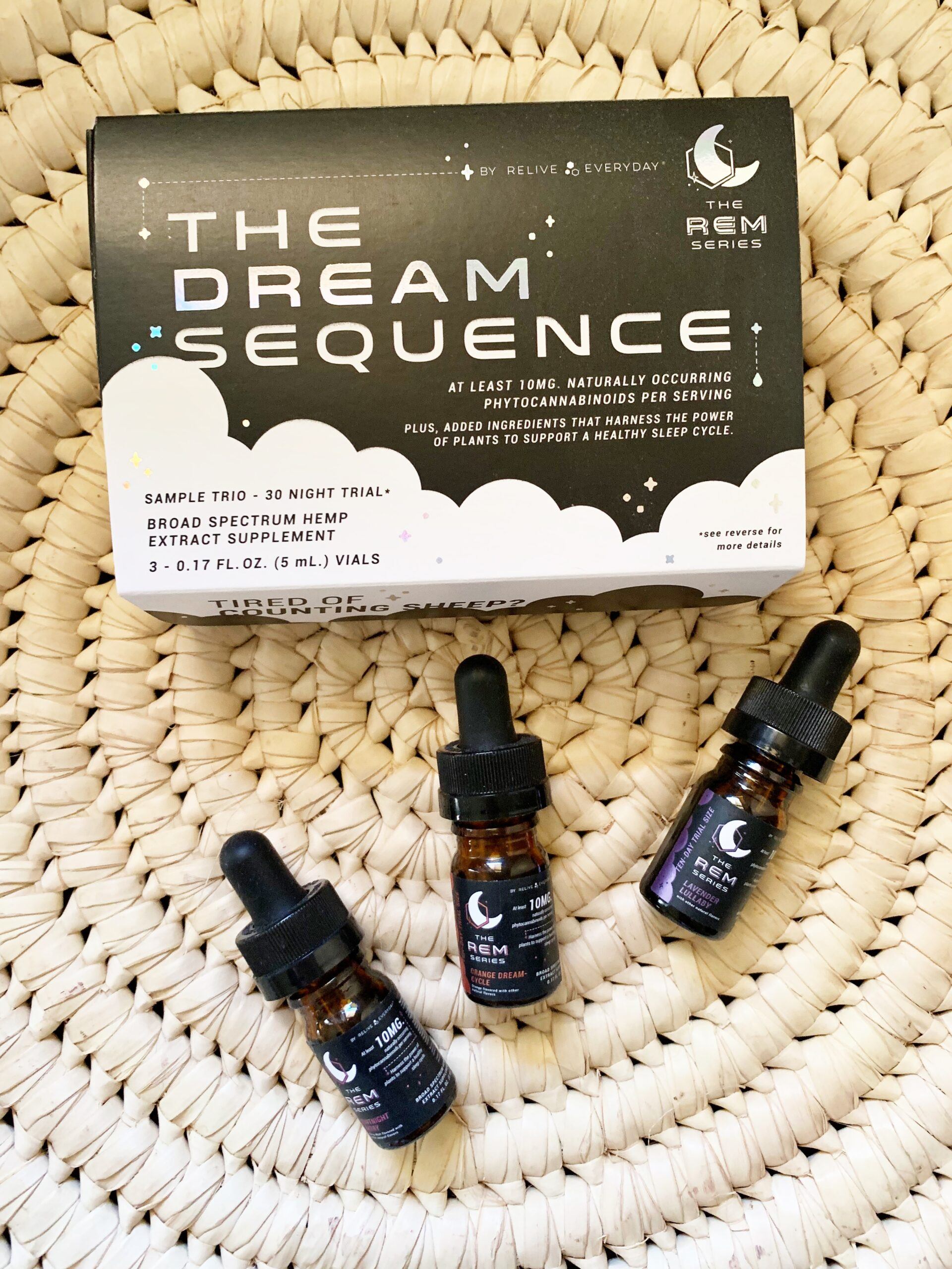 Relive Everyday CBD Oil Tinctures - REM Sequence