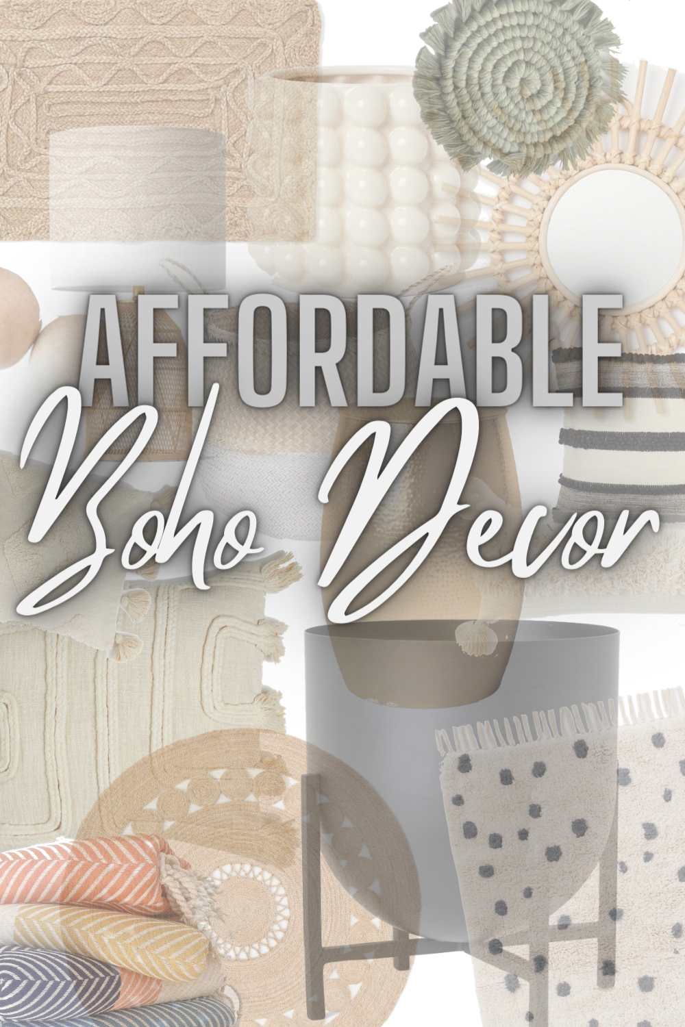 Affordable Boho Home Decor - Looking for a home decor refresh? Today I'm sharing my favorite affordable boho home decor finds! | Boho Home Decor - Boho Style Home Decor - Affordable Home Decor