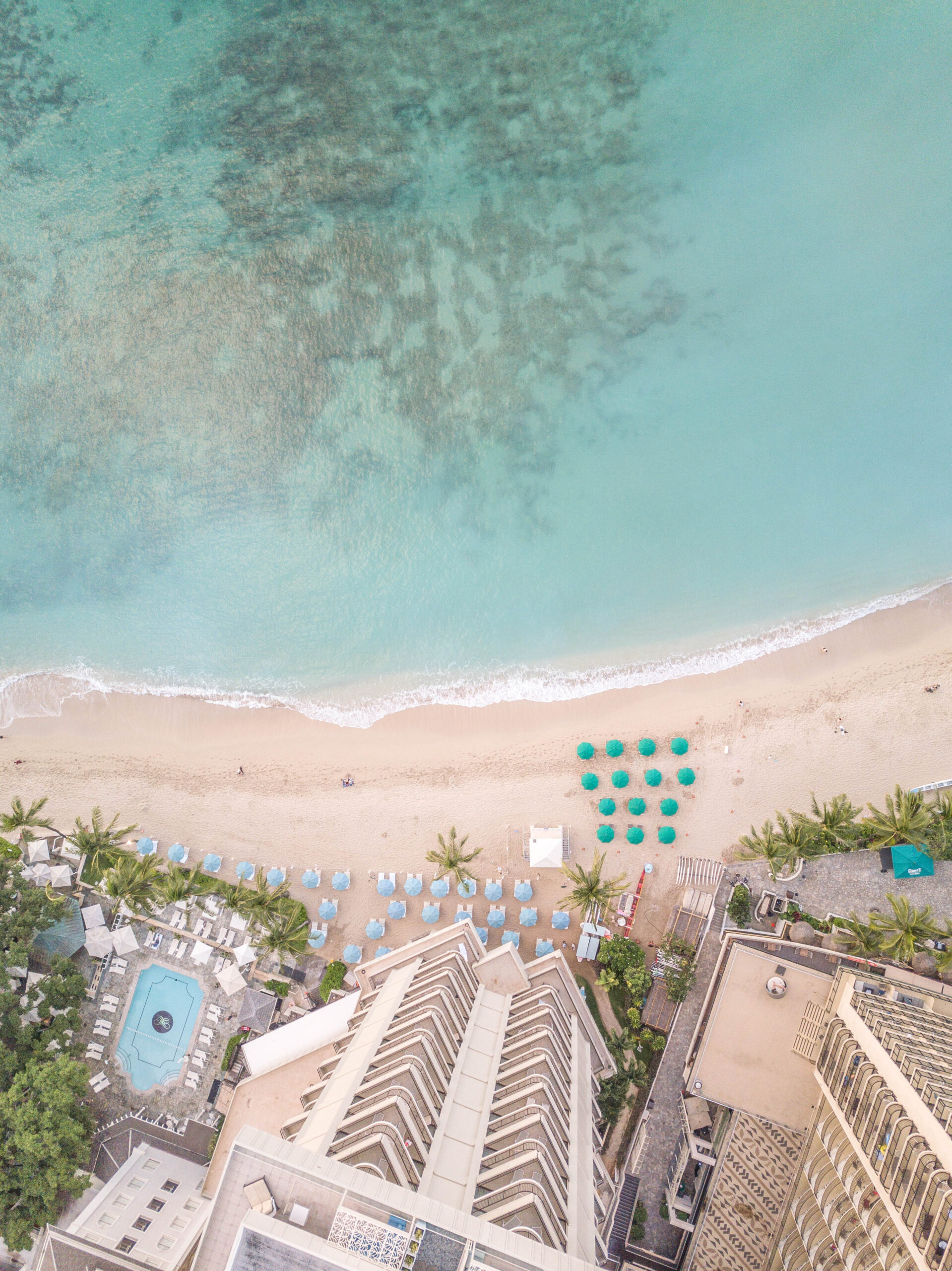 Waikiki Beach Hawaii - Aerial Beach Photography