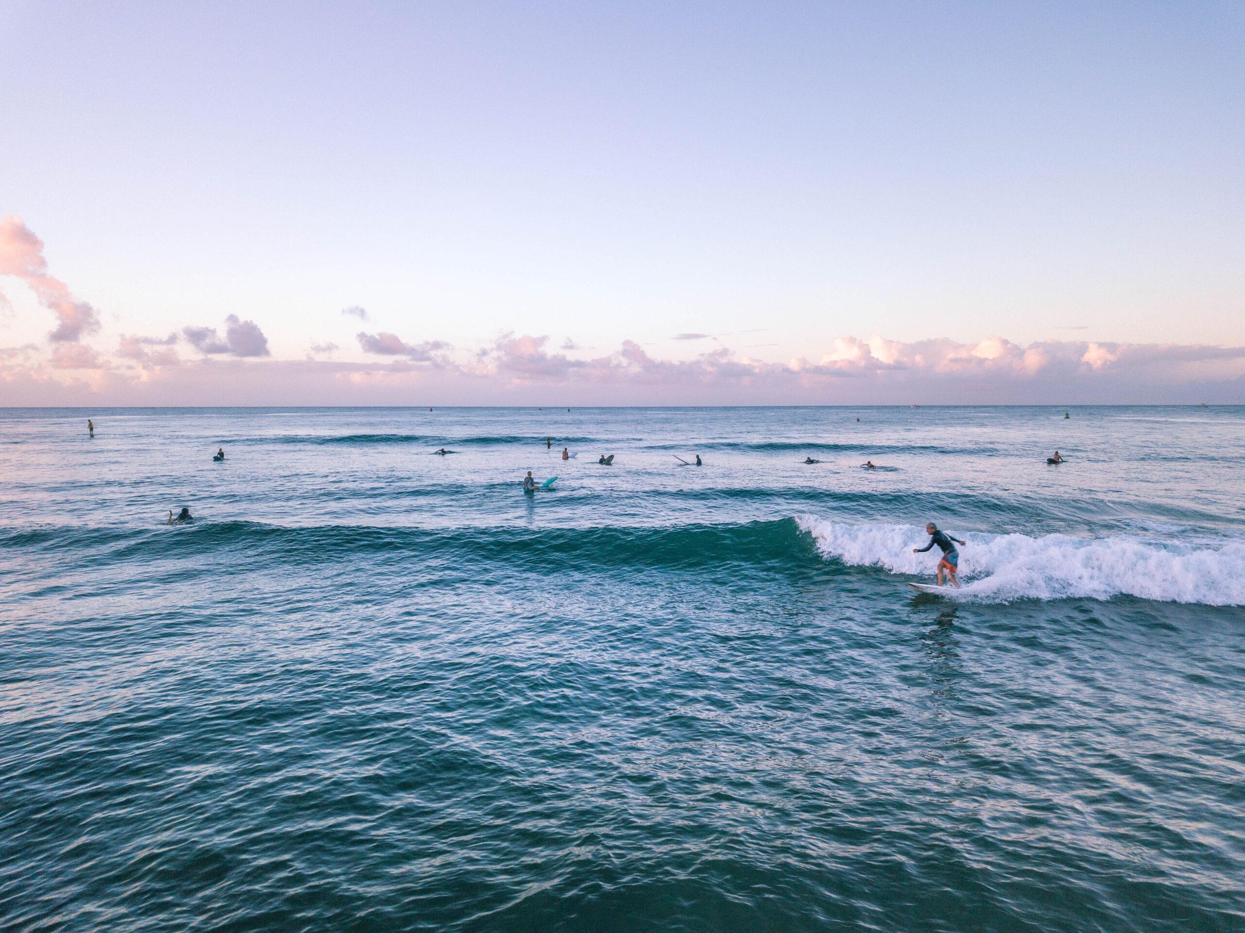 Sunrise Surfers - Oahu Hawaii