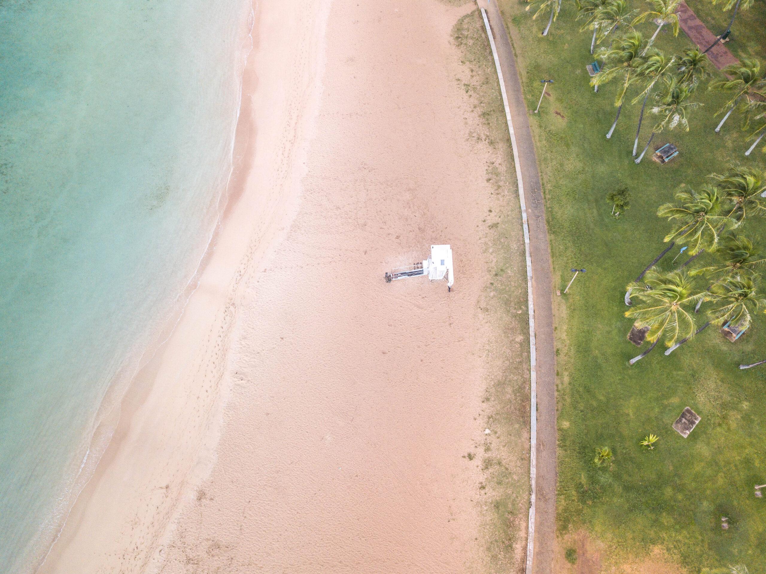Lifeguard Stand on Beach - Oahu, Hawaii