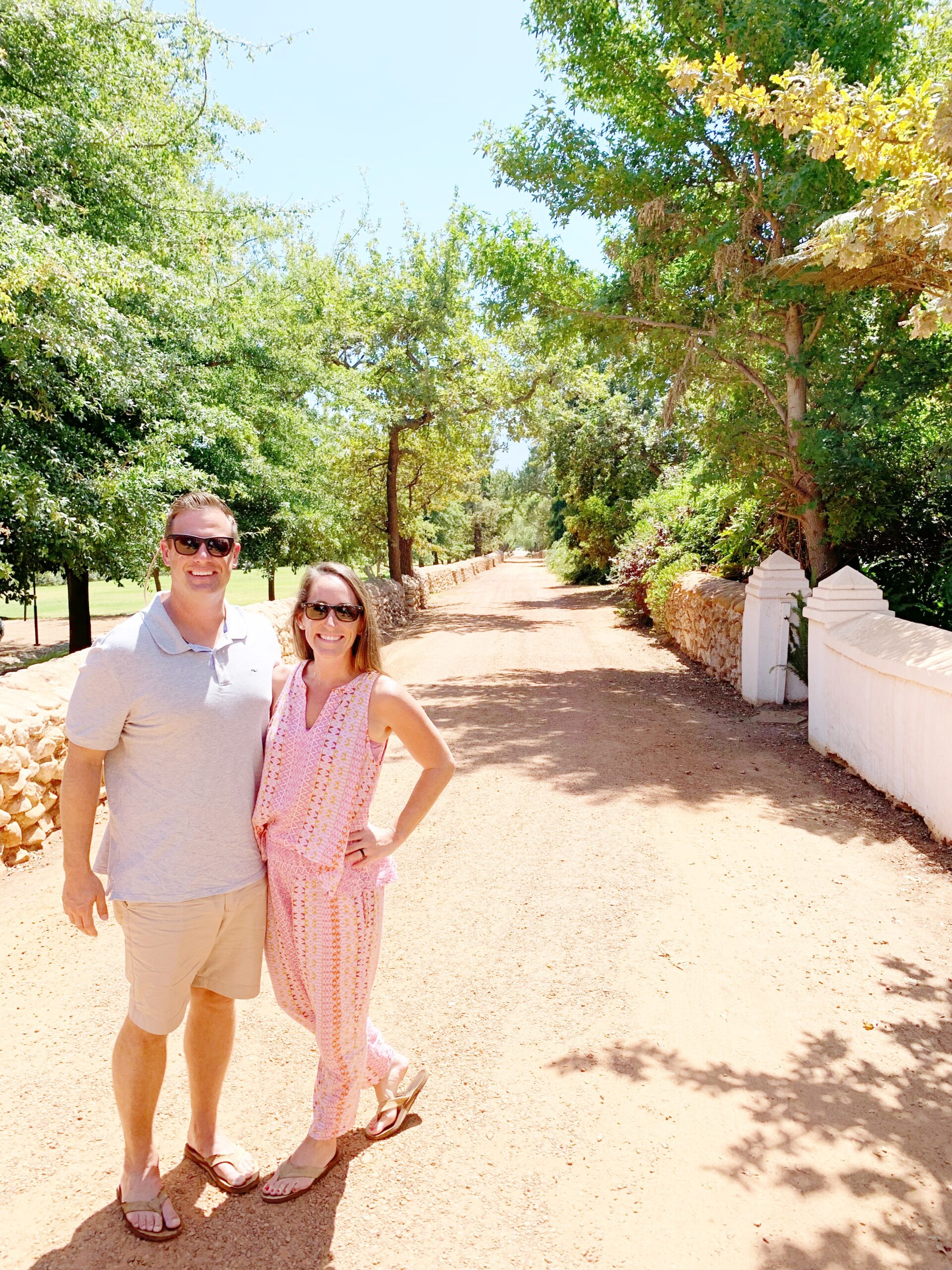 Couple on South African wine tour