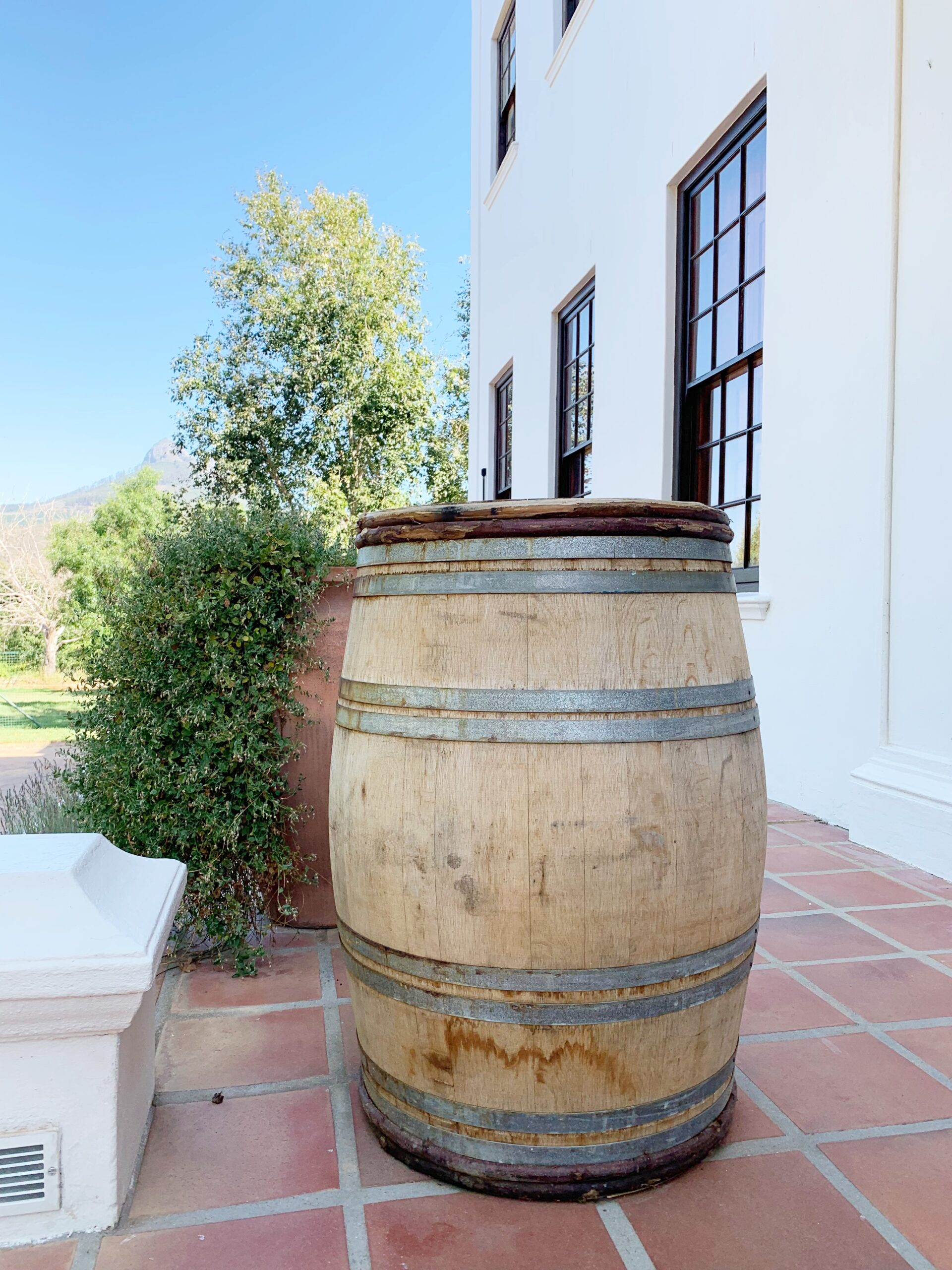 Wine barrel in South Africa