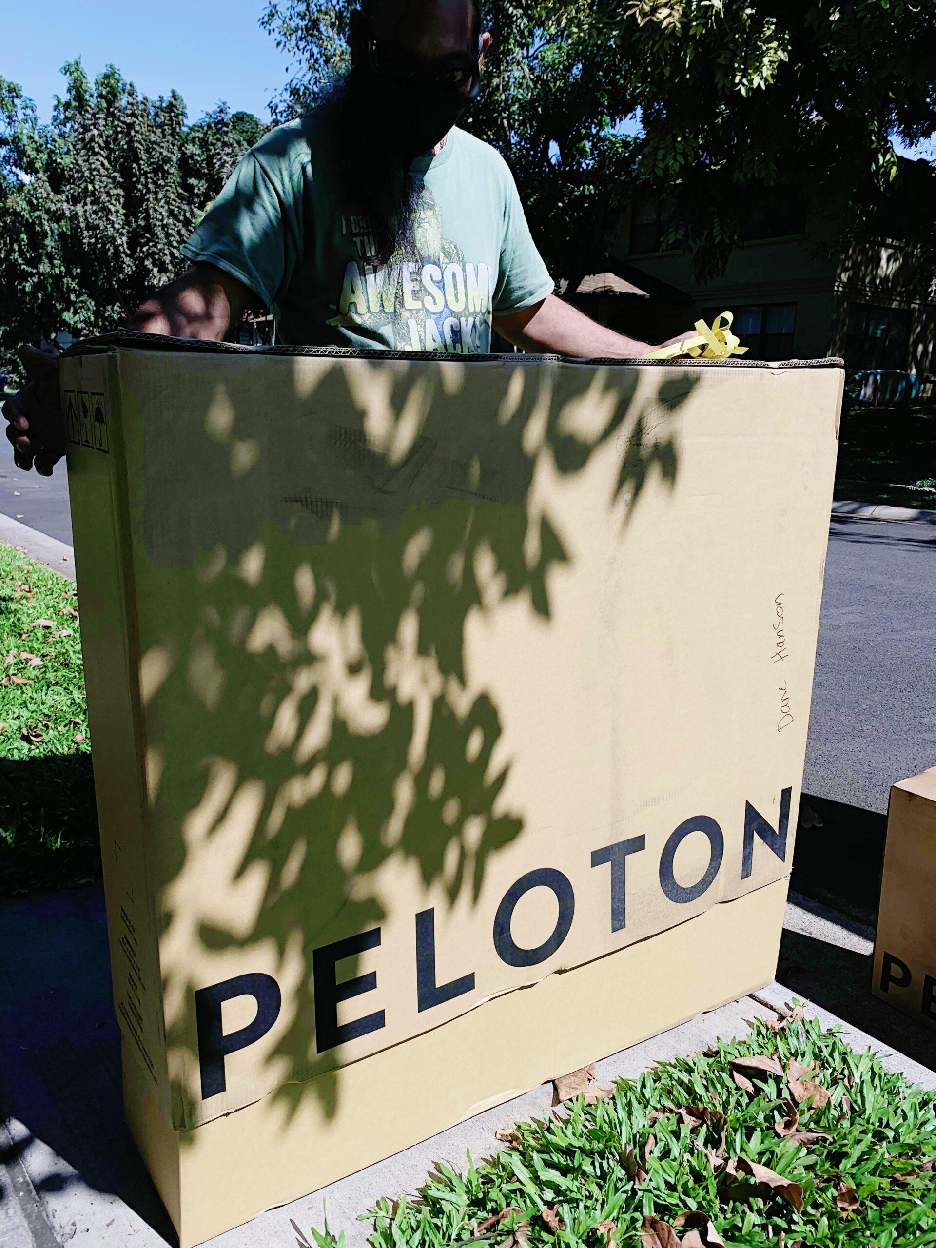 Peloton delivery box