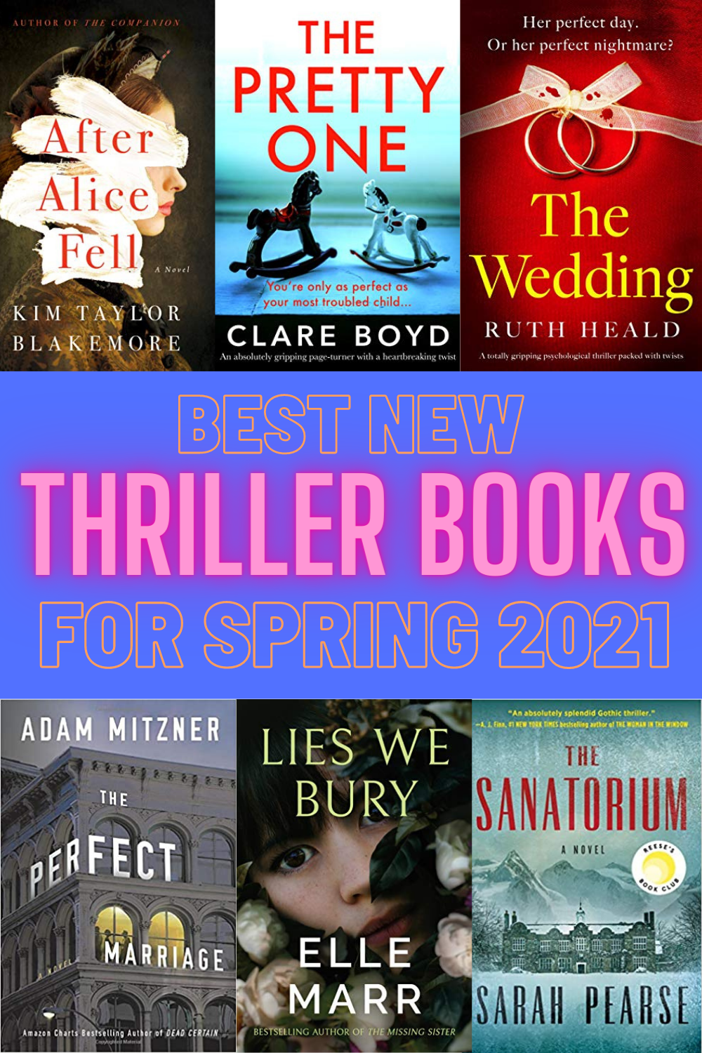 6 New Thriller Books For Spring 2021 - Looking for a new thriller book to read? Here are the 6 best psychological thrillers for Spring 2021. | Psychological Thriller Books - Best Thriller Books - New Thrillers to Read for 2021