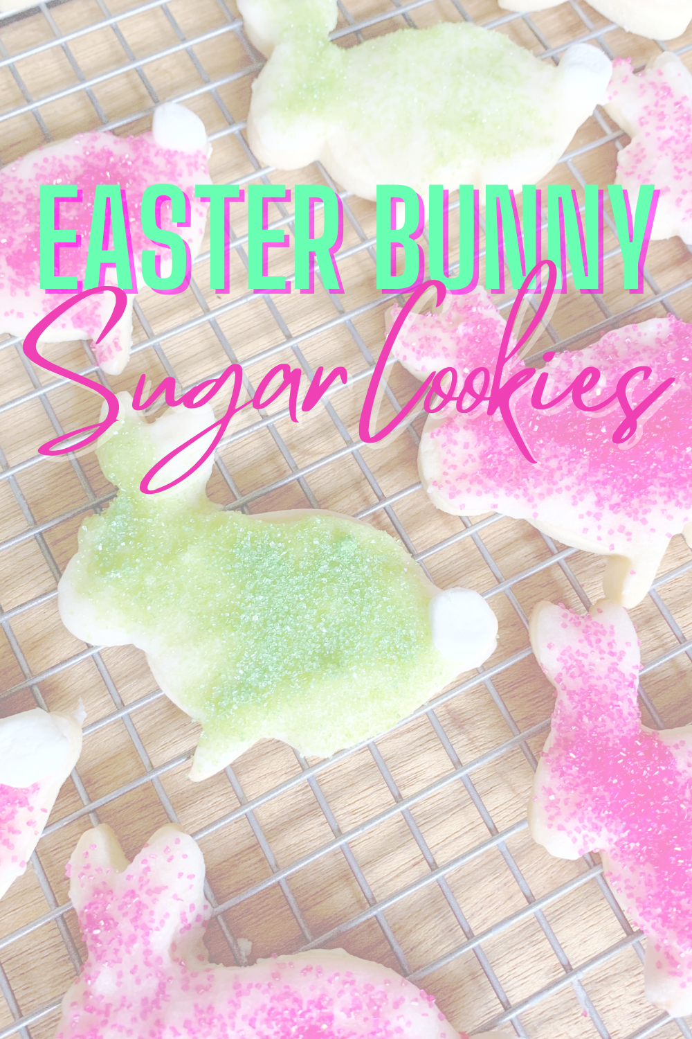 Easter Bunny Cookies - Looking for a delicious Easter cookie recipe? These Easter bunny cookies are simple and cute! | Easter Bunny Cookies | Easter Cookie Recipe