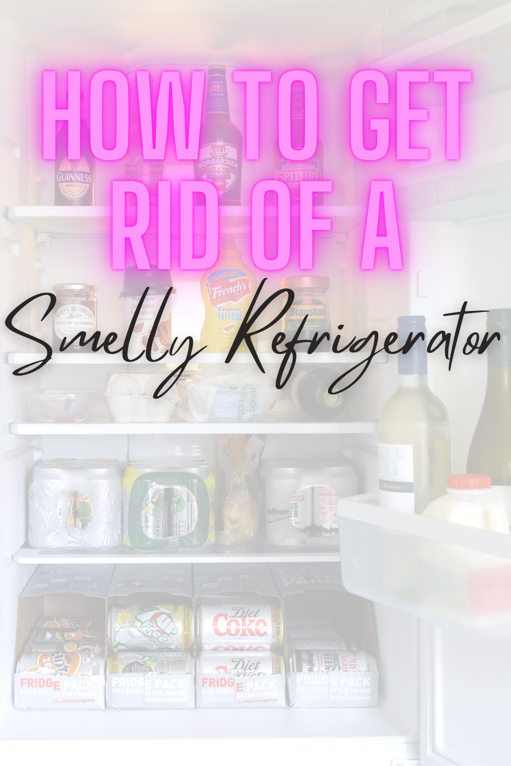 How To Get Rid Of A Stinky Refrigerator - Bad odor coming from your kitchen? Sharing my best tips to rid yourself of gross refrigerator smells!