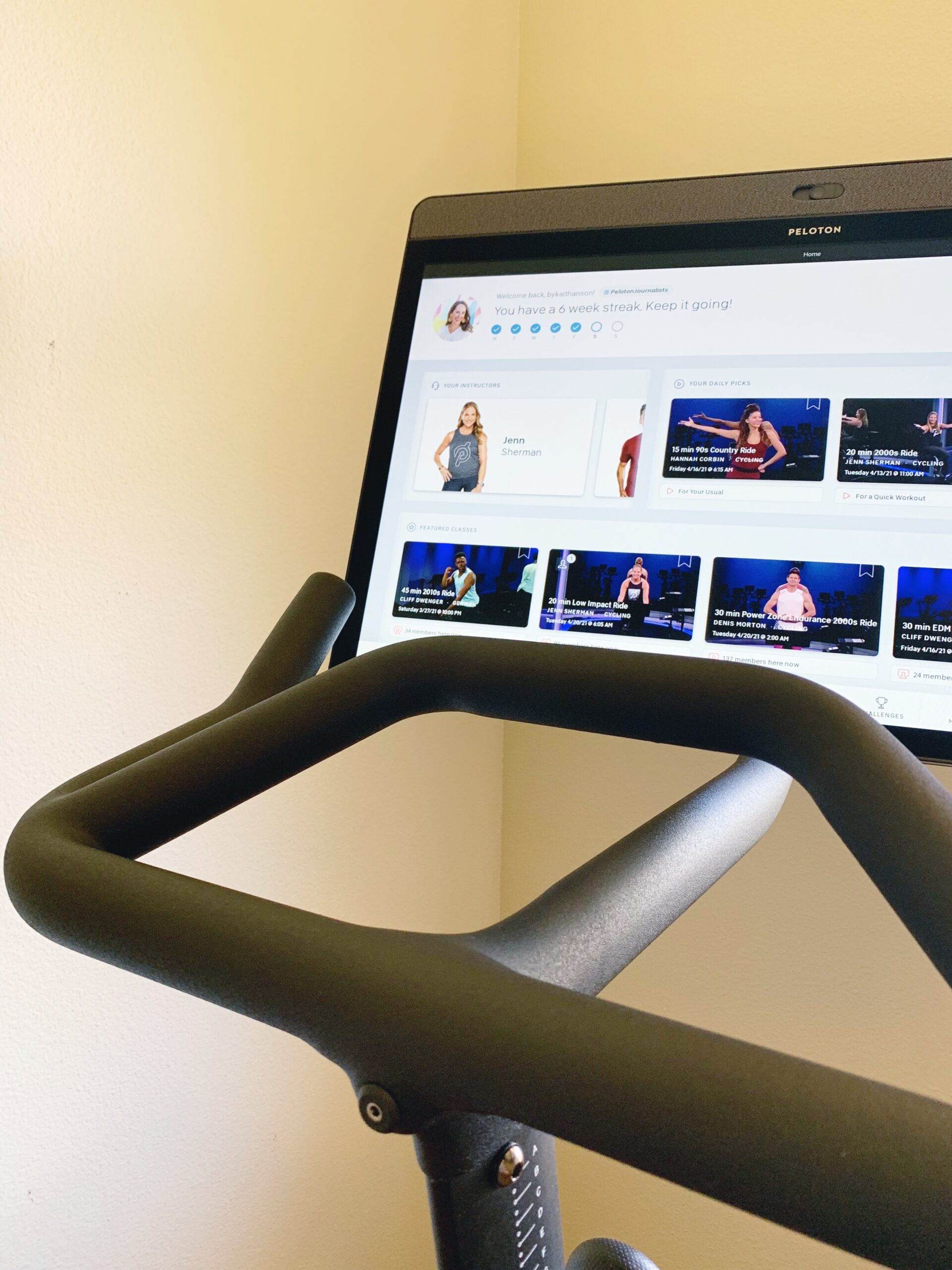 One Month In - My Peloton Bike Review - Considering a Peloton Bike+? I'm sharing my Peloton bike review after one month of use! | Peloton Bike Review | Peloton Bike+ Review | Peloton App Review