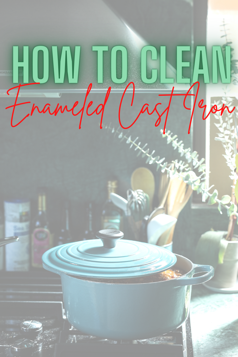 How To Clean Enameled Cast Iron - Wondering how to clean your brand new pan? Today I'm sharing all my best tips for cleaning enameled cast iron! |Cleaning Enameled Cast Iron |How To Clean Cast Iron |Cleaning A Dutch Oven