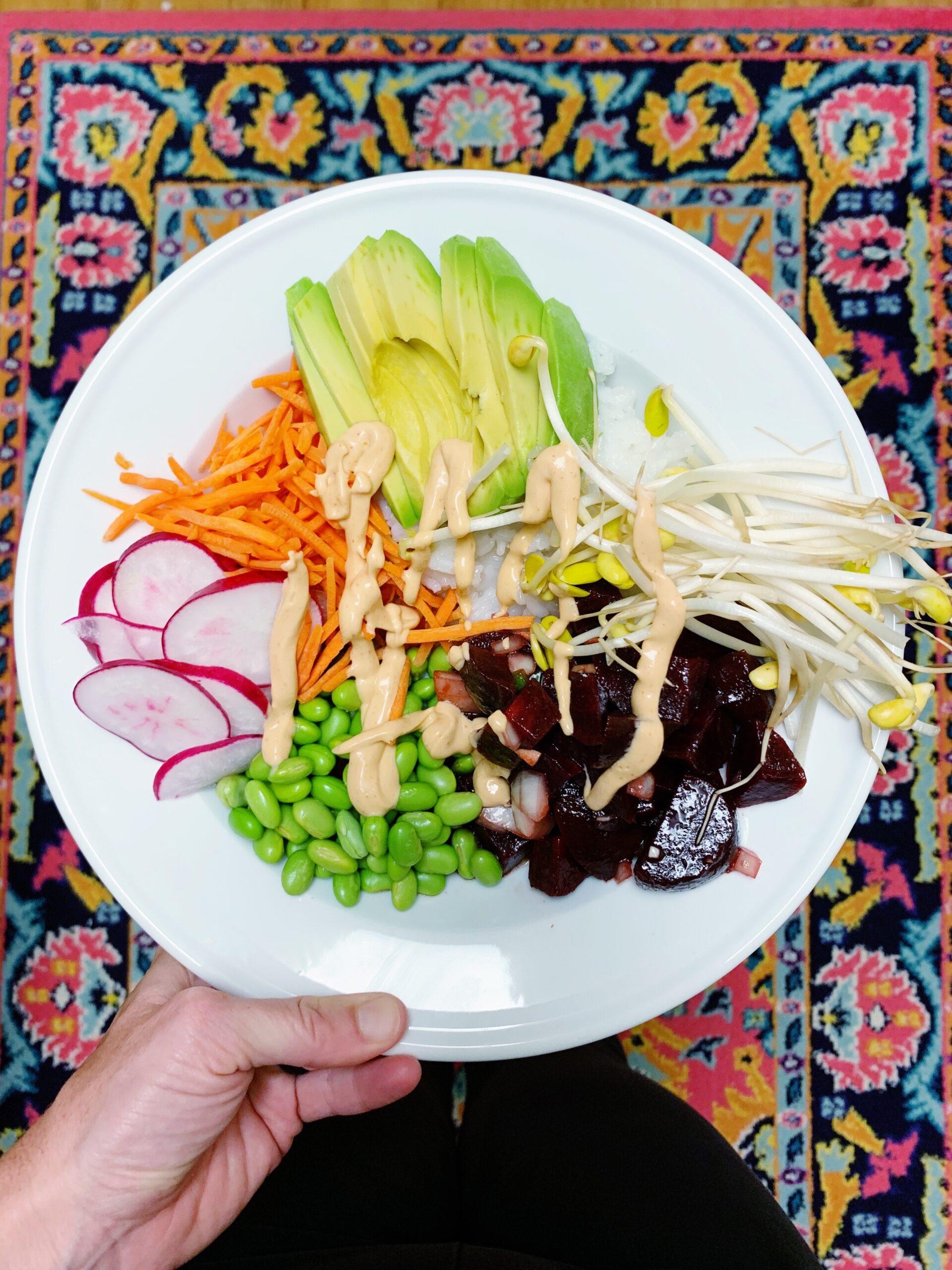 Beet Poke Bowl | Vegan Poke Bowl